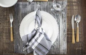 rustic table setting idea #2