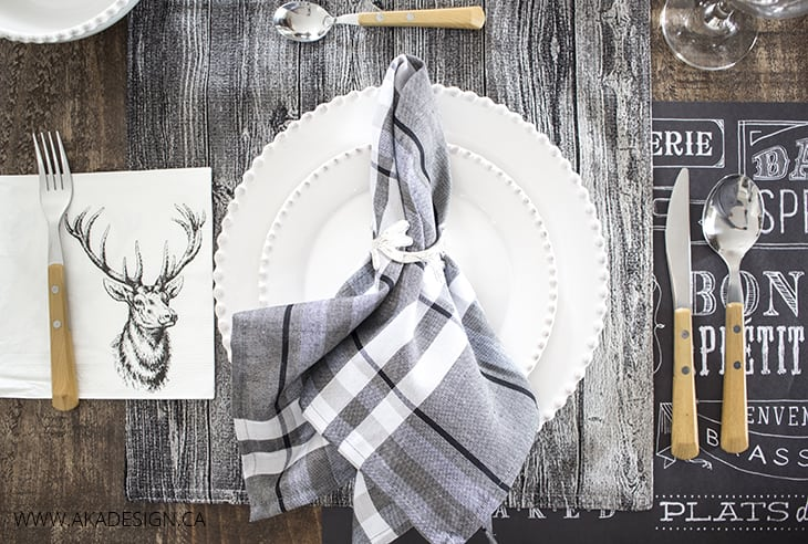 rustic table setting ideas #3