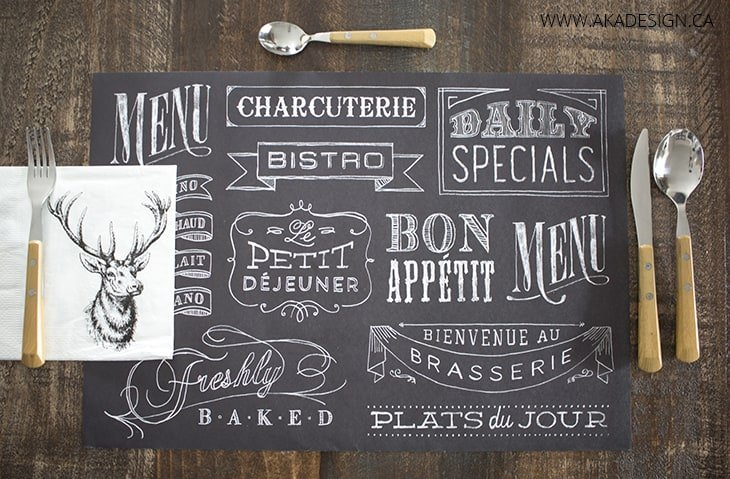 Five on Friday : Chalkboard placemat
