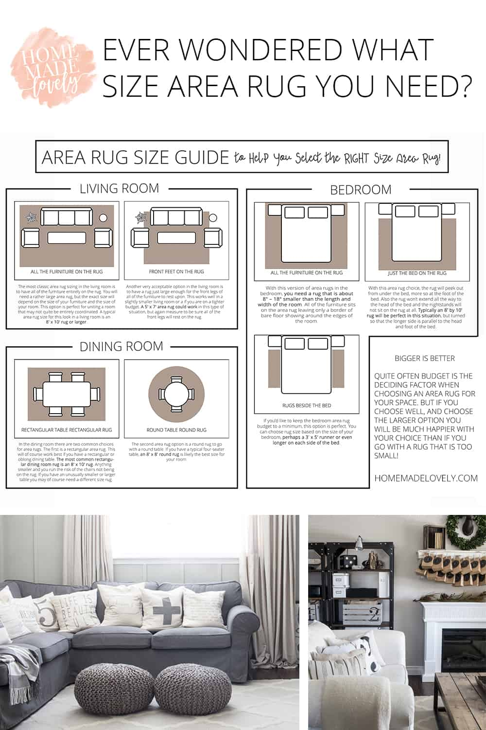 Area Rug Size Guide To Help You Select