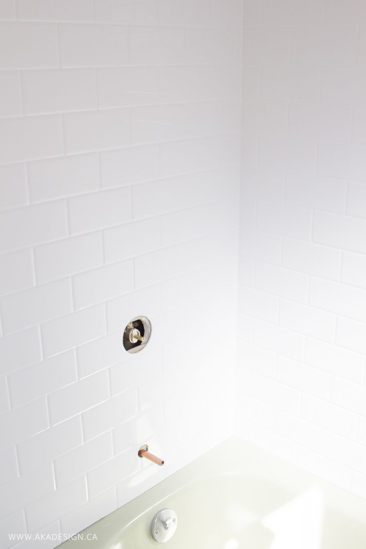 A New White Bath Tub (Good-bye Green Tub!)