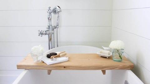 DIY Bathtub Tray – So You Can Enjoy That Hot Bath Even More!