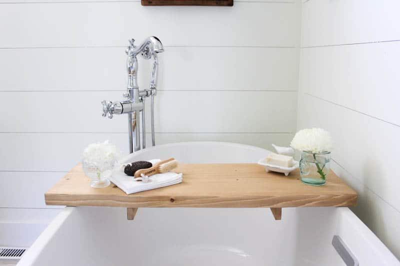 DIY Bathtub Tray-2