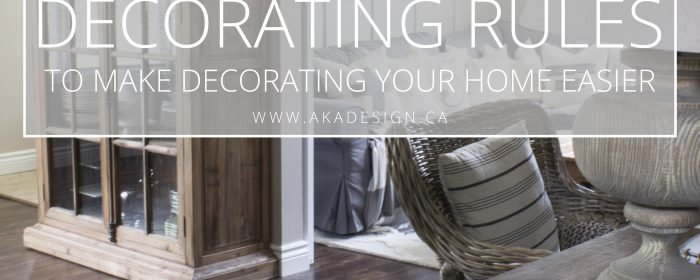Decorating Rules to Make Decorating Your Home Easier