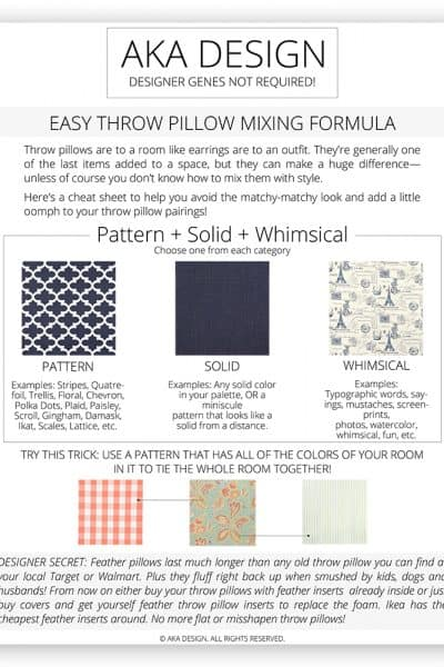 How To Mix Throw Pillows and Patterns With Style