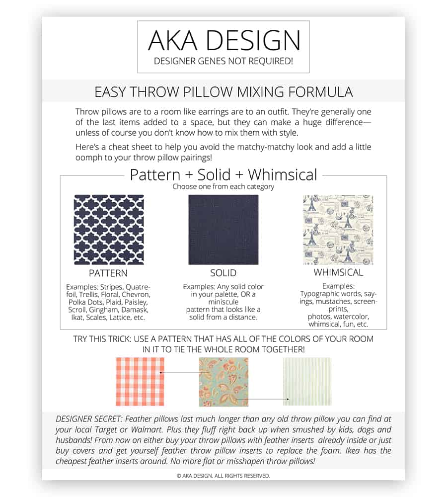 Easy Throw Pillow Mixing Formula for blog
