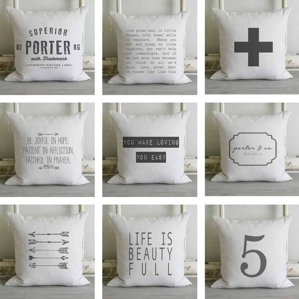 Etsy Porter Lane Home Pillow Covers