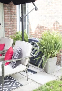 Simple summer patio and staying cool this summer