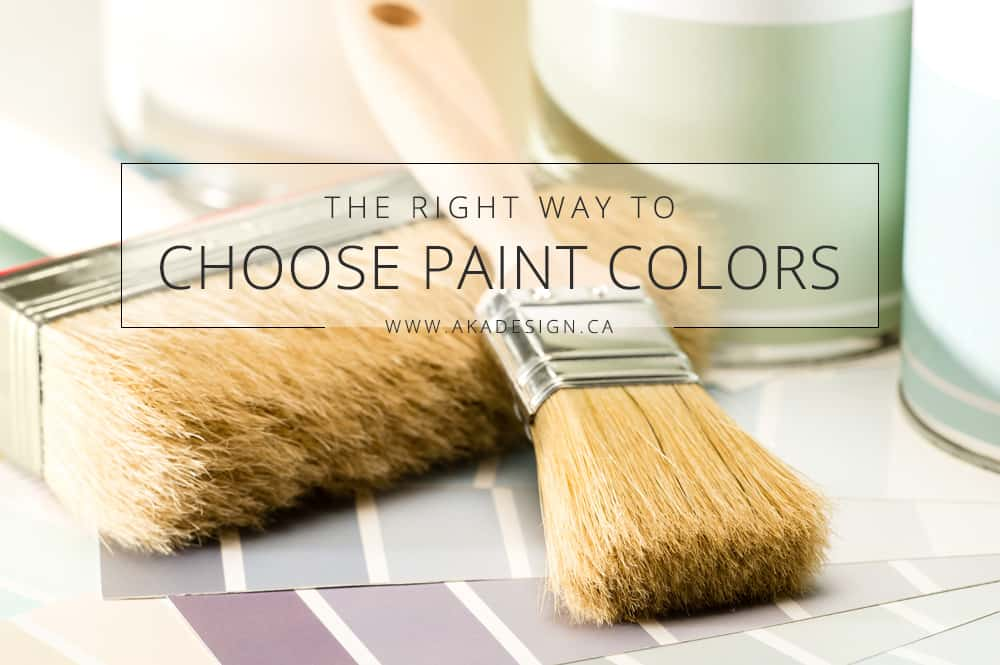 The right way to choose paint colors