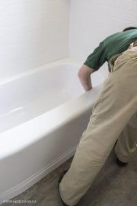 bath tub install 2