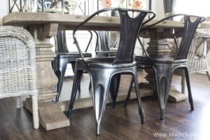 Restoration Hardware Trestle Table Rustic Natural