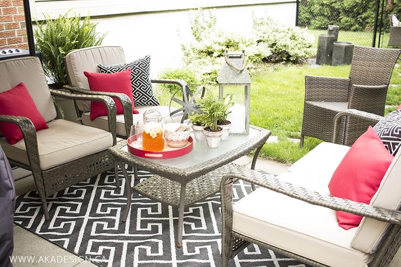 Simple summer patio