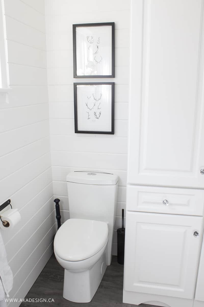 bathroom concealed trapway toilet