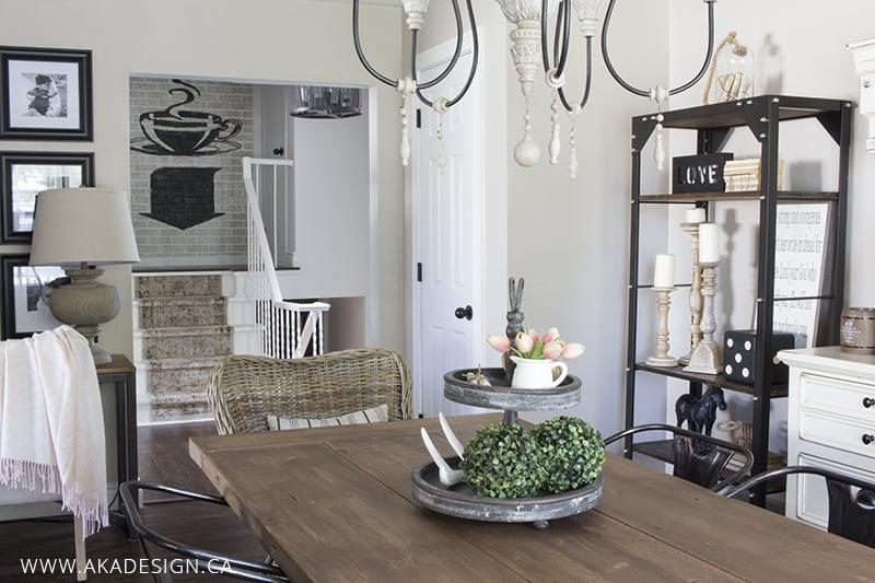 dining room closet stairs etc
