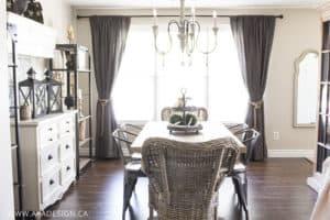 dining room to window