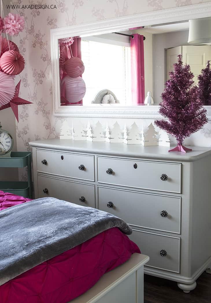 Elegant taupe dresser