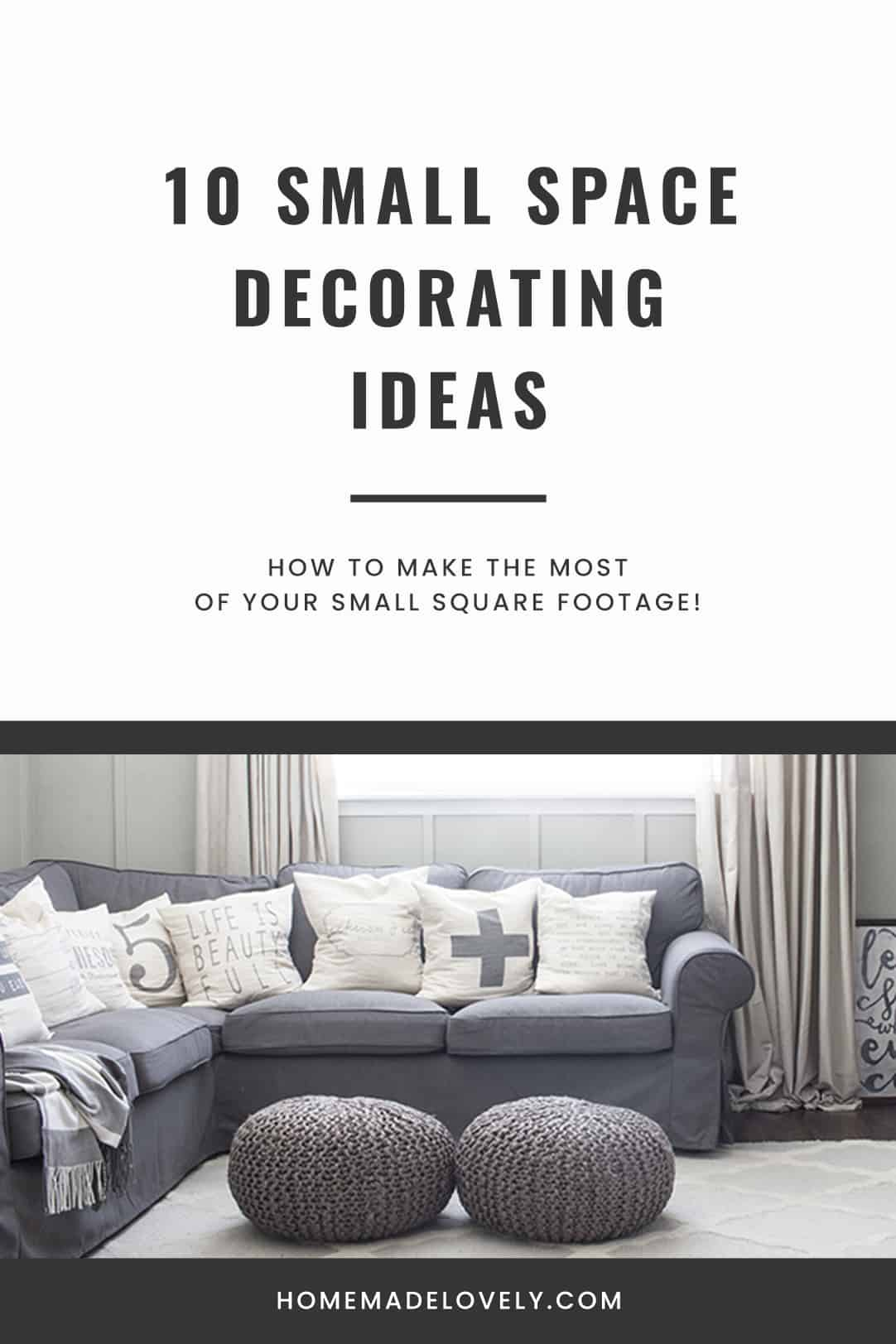 10 Small Space Decorating Ideas pin 2