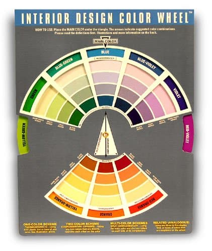 an interior design color wheel