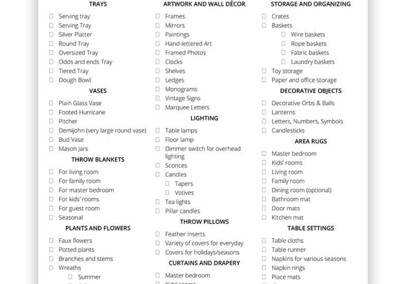 AKA Design Decor Staples Checklist jpg for blog