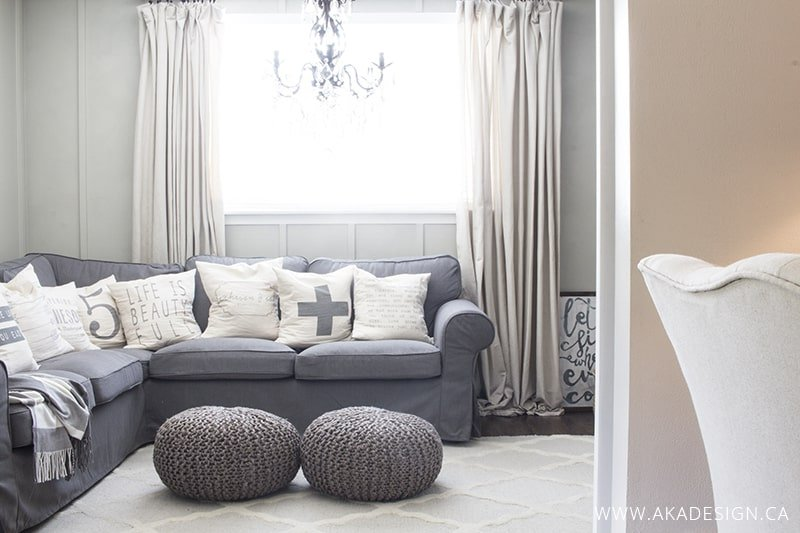 White Slipcovers are NOT Easy to Keep Clean!