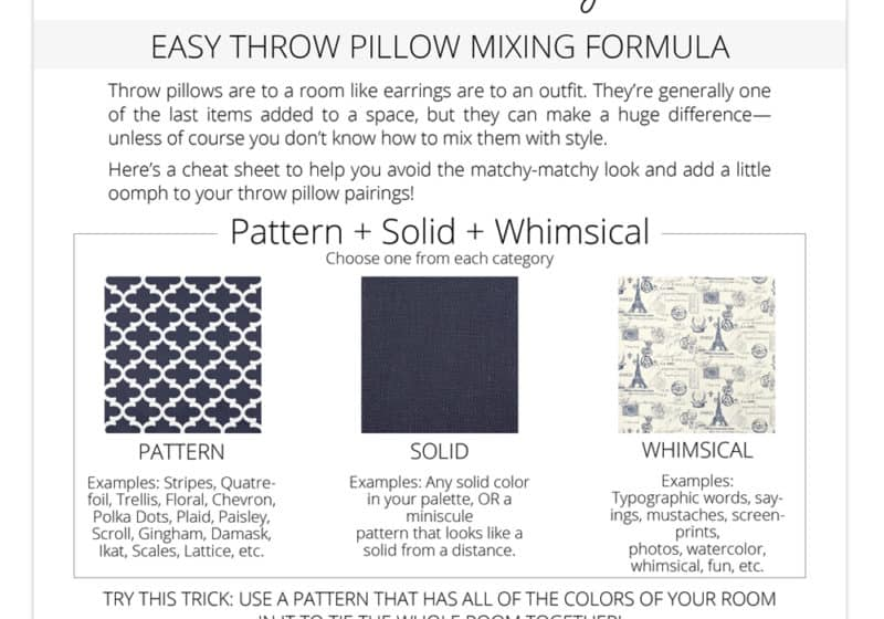 mix throw pillows and patterns easily