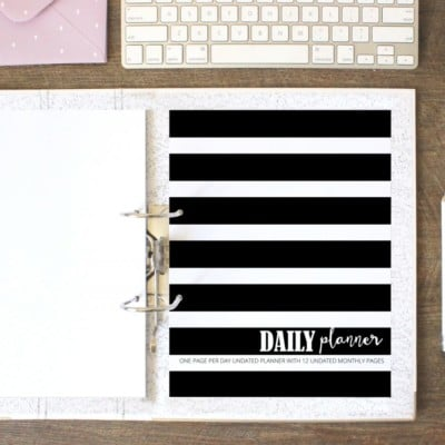 The Daily Planner (Undated)
