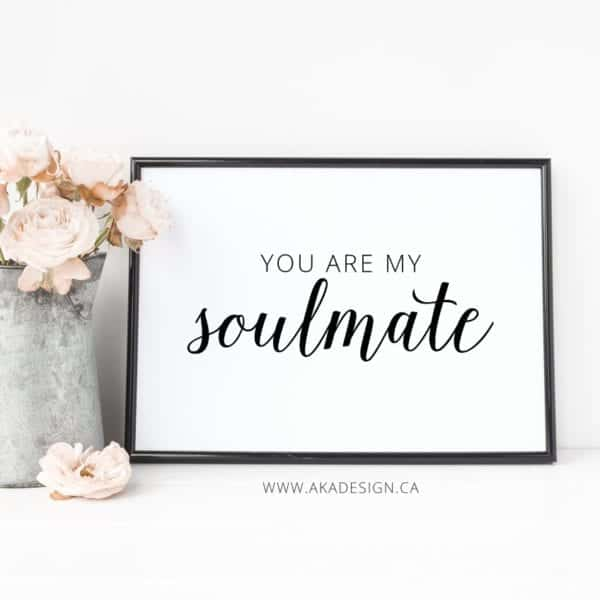 you are my soulmate framed