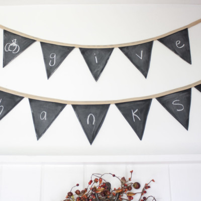 How to Make a Reusable Chalkboard Banner
