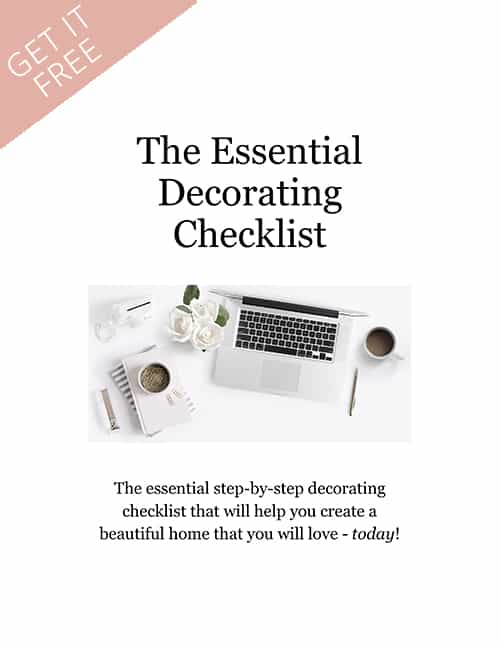 Get The Essential Decorating Checklist Now!