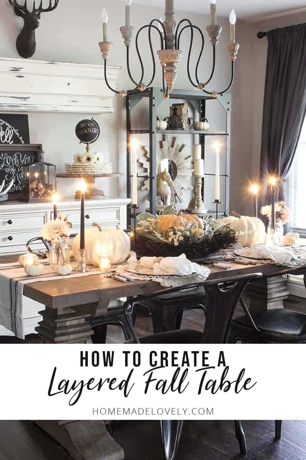 how to create a layered fall table