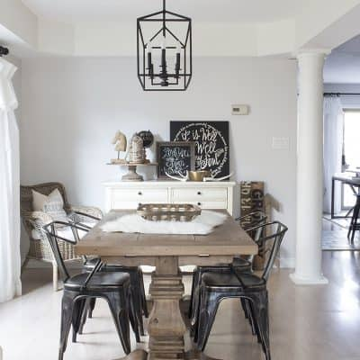 Monochromatic Dining Room