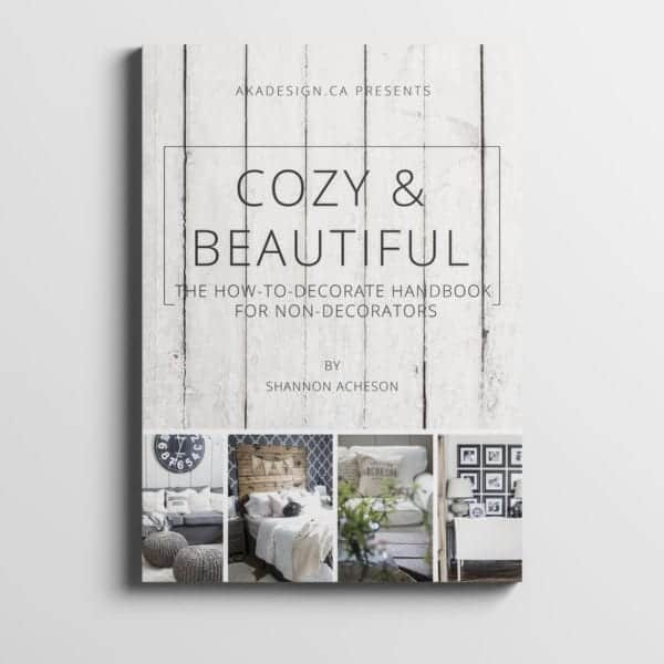 cozy and beautiful print cover mockup