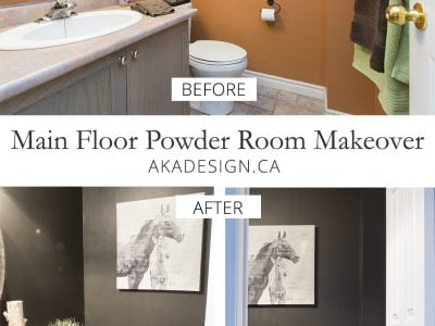 Main Floor Powder Room Before and After