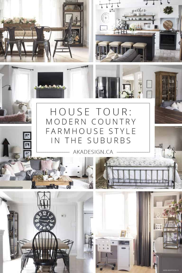 Our Current House Tour – Modern Farmhouse Style in the Suburbs