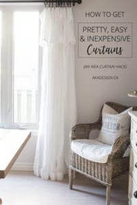 how to get easy pretty inexpensive curtains
