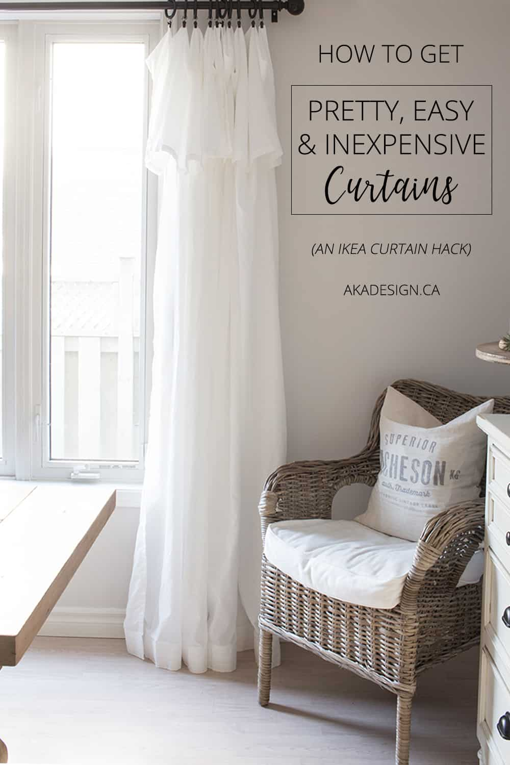 Love these breezy, casual curtains! And they're so versatile and cheap!