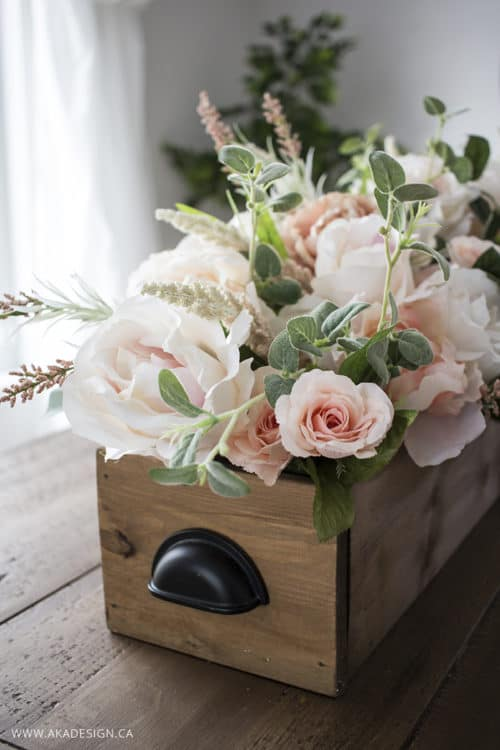 DIY Faux Floral Arrangement: Feminine Yet Rustic Crate