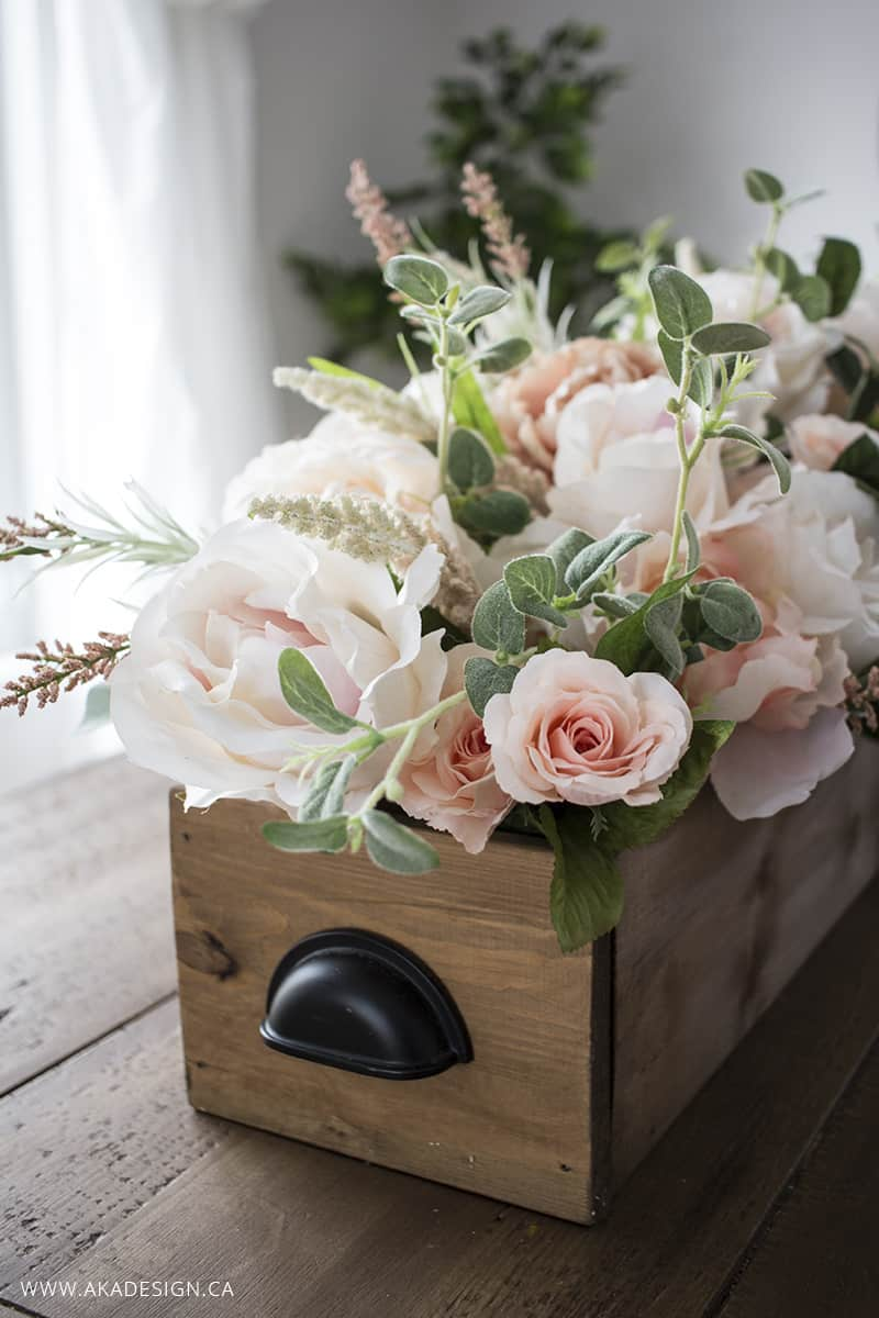 Diy Faux Floral Arrangement Feminine Yet Rustic Crate