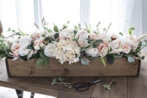 faux floral arrangement finished