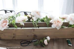 faux floral arrangement step 1