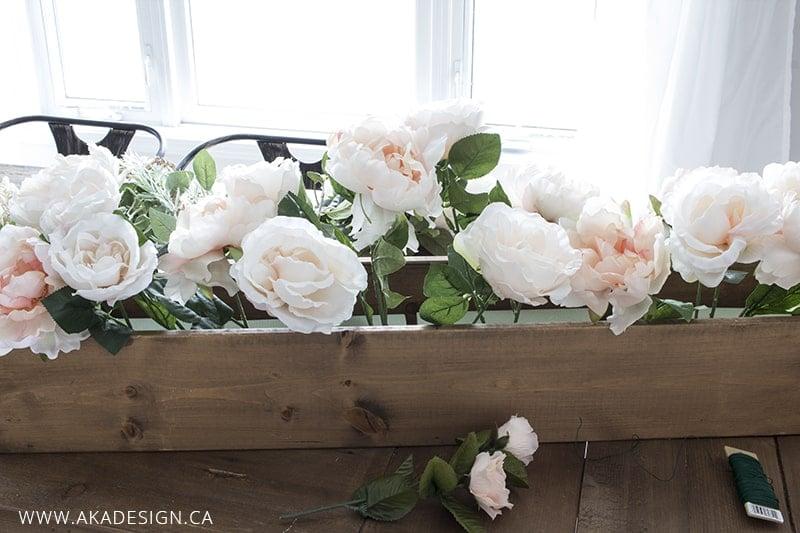 faux floral arrangement step 2