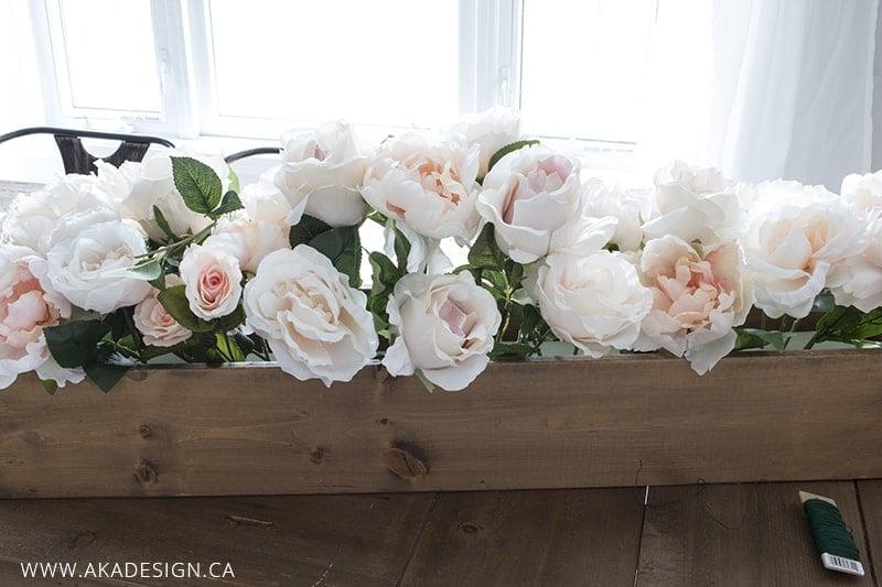 faux floral arrangement step 3