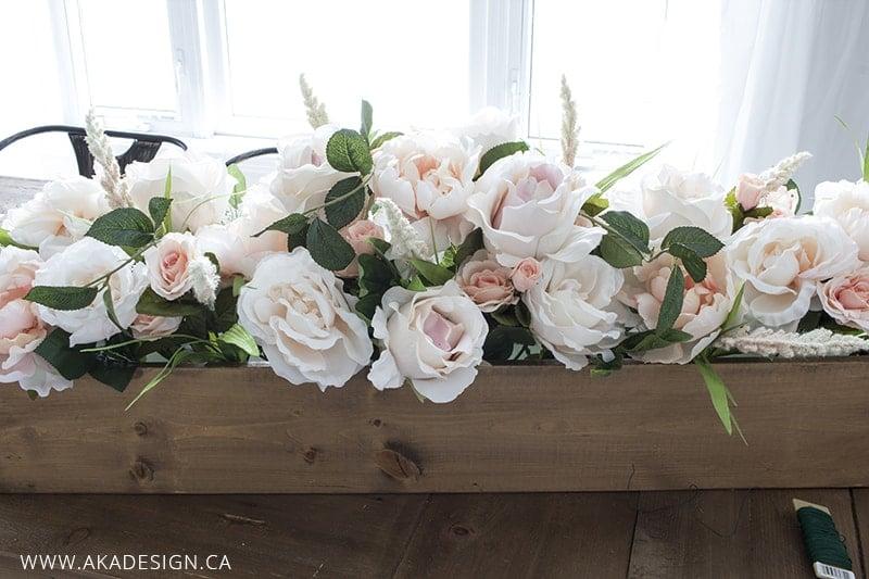 faux floral arrangement step 4