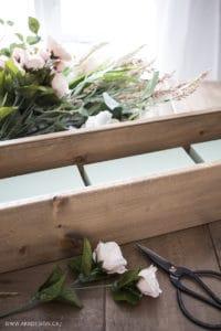 faux floral arrangement supplies