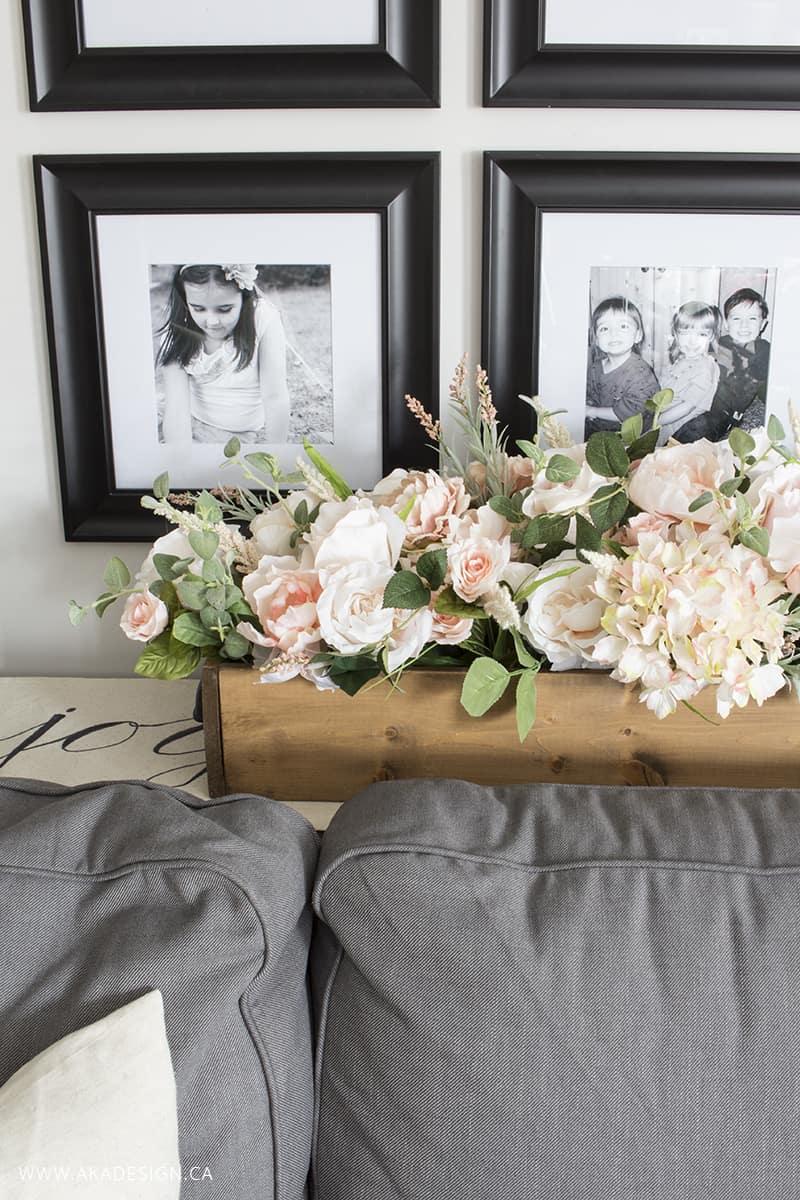 faux floral arrangement that looks real