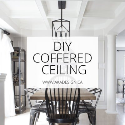 DIY Coffered Ceiling AKA Design