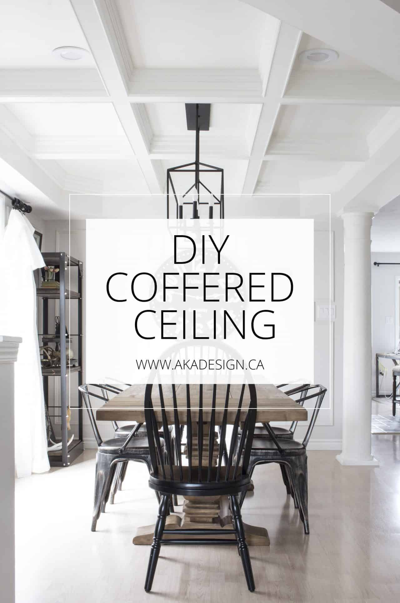 Merveilleux DIY Coffered Ceiling   How To DIY A Professional Looking Coffered Ceiling  For Less Than $500!