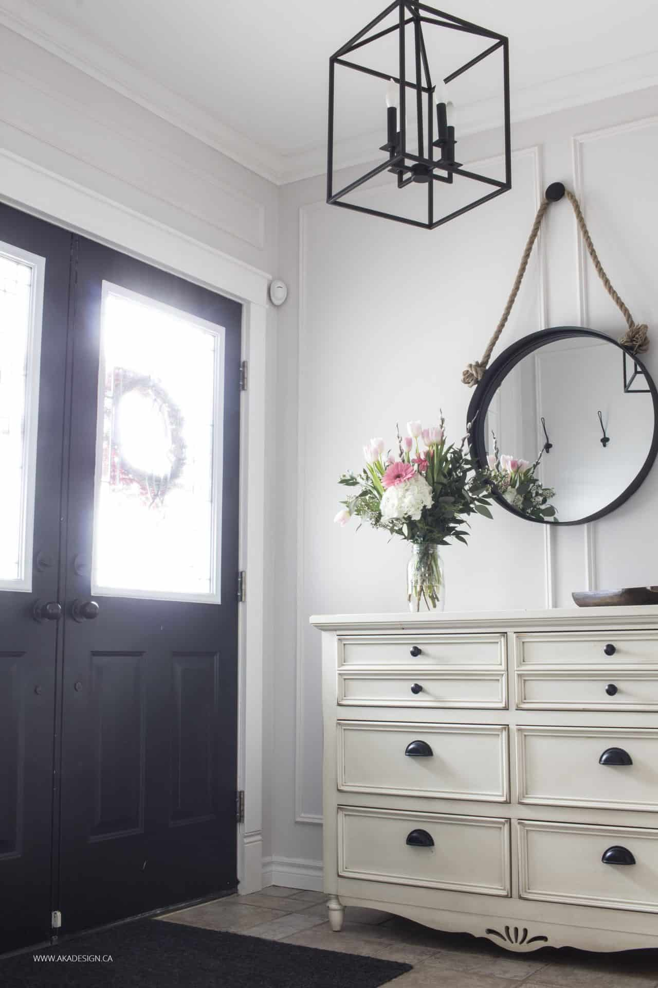 entryway with panel moulding