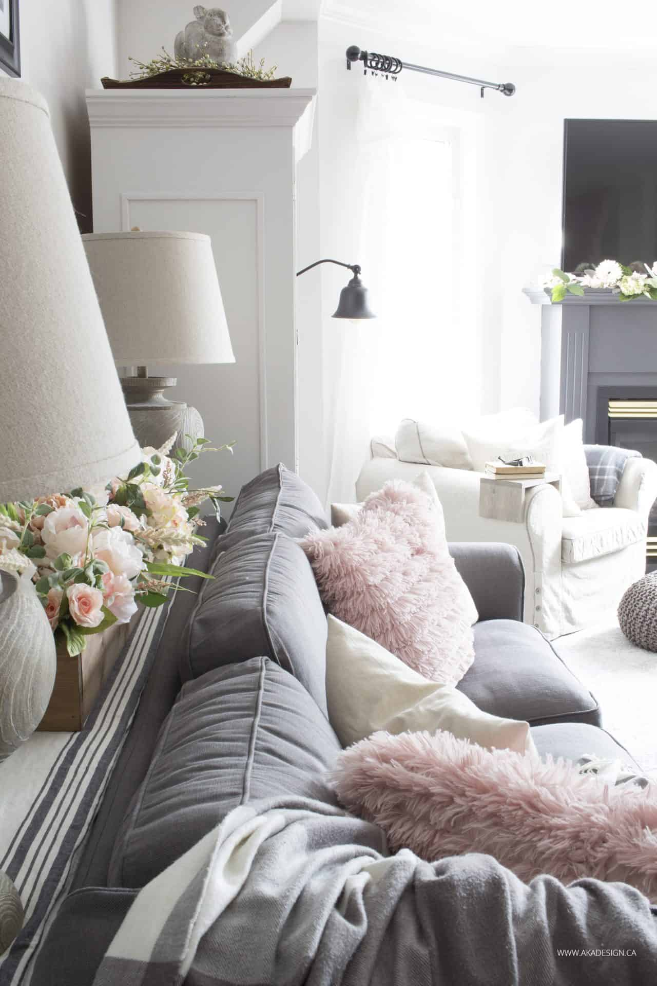 Cozy spring home tour part 1 for Living room decorating ideas tumblr