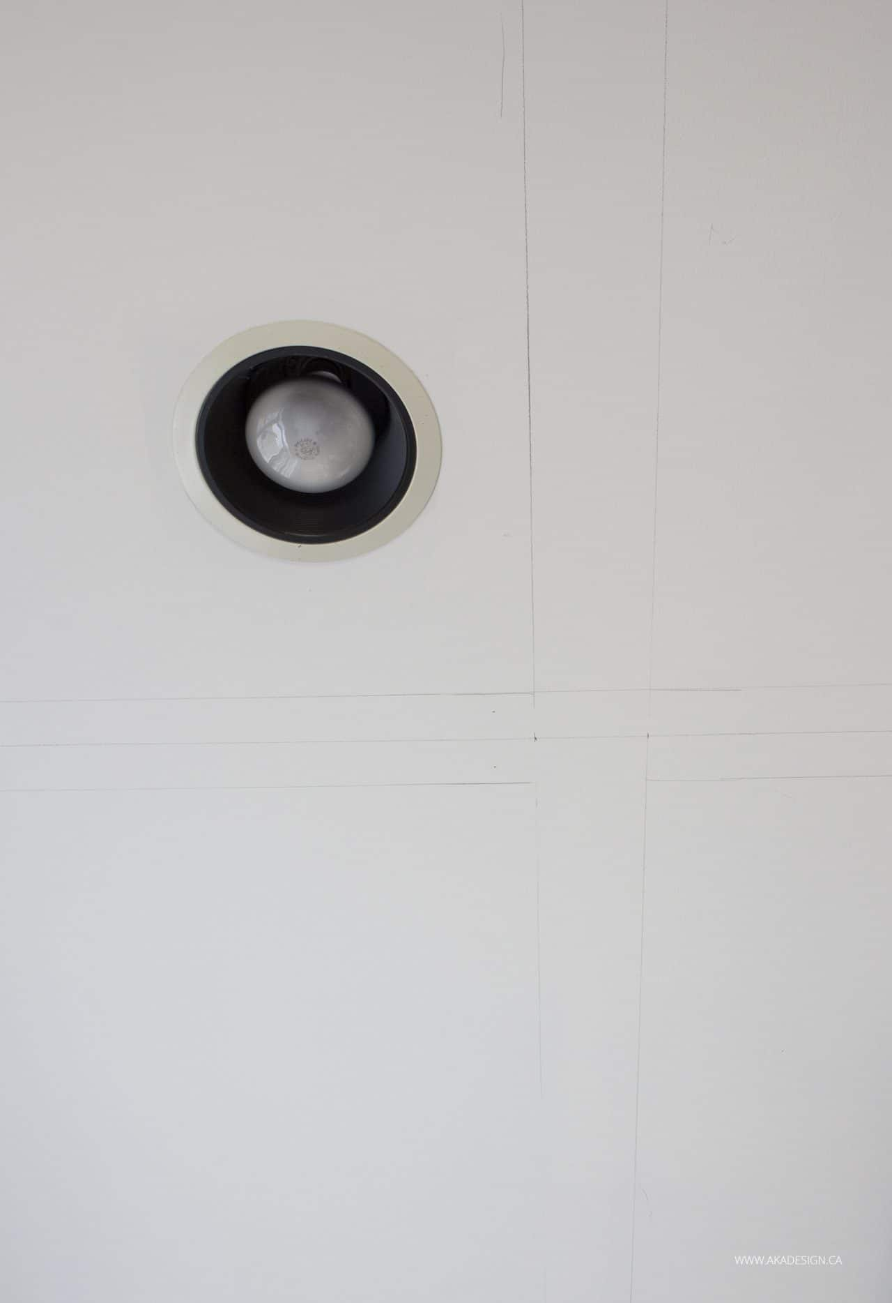 pencil marks on ceiling